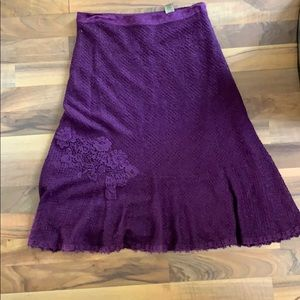 Gorgeous Purple Free skirt with lace detail